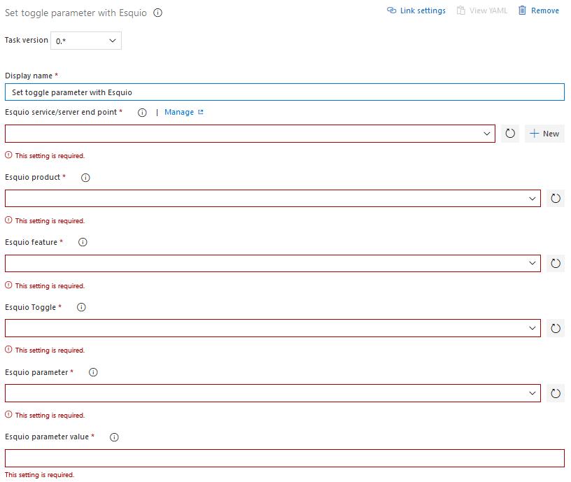 Set toggle parameter with Esquio